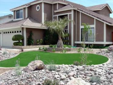 Artificial Grass Photos: Artificial Turf Installation Hunters Creek Village, Texas City Landscape, Front Yard