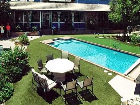 Artificial Grass Photos: Faux Grass Prairie View, Texas Home And Garden, Above Ground Swimming Pool
